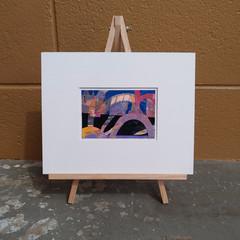 """Sunshine and Rainbows"" original acrylic collage"