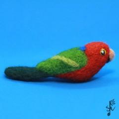 KIng Parrot - Handmade Needle Felted Wool Bird