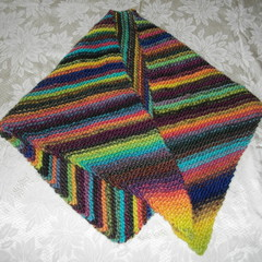 Various Hand Knitted Shawls and Scarves in assorted yarns
