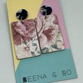 Floral rectangle earrings 1