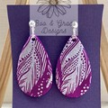 Tail Feather Earrings