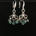 Genuine Turquoise & Sterling Earrings