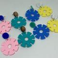 Cog wheel earrings
