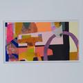"""Rainbows and Castles"" original acrylic collage"