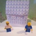Template. Construct your own lego paper house.  Cheap entertianment. No.1