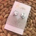 Recycled Silver Glitter Arch Acrylic Dangles   Ecofriendly
