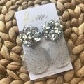 Recycled Silver Glitter Star Dangles | Ecofriendly |