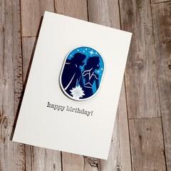 BIRTHDAY CARD - Princess Brick Birthday Card with Envelope