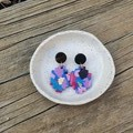 Blue spotted earrings