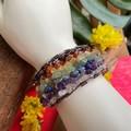 Chakra  Stones Cuff Bangle