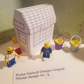 Minature paper house for you to construct. Just the right size for Lego. No.3