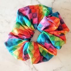 XLarge Scrunchies - Olivia / Scrunchies / Jumbo Scrunchies / Brick Scrunchies