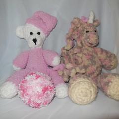Teddy Bear, Unicorn and Soft Ball