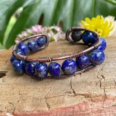 Lapis Lazuli Cuff Bangle