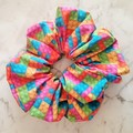 XLarge Scrunchies - Emily / Scrunchies / Jumbo Scrunchies / Brick Scrunchies