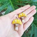 Yellow top Mushroom Dangle Earrings
