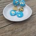 Blue & gold dangles