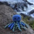 Crochet Jellyfish Softie | Toy | Wool Bamboo | Gift Idea | Hand Crocheted | Blue
