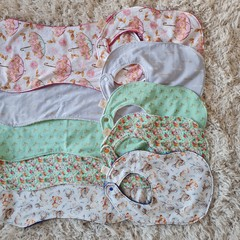 Baby Bib and Burp cloth set