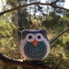Crochet Owl Softie | Soft Toy | Gift Idea | Hand Crocheted | Wool Bamboo | Aqua