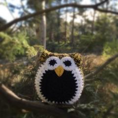 Crochet Owl Softie | Soft Toy | Gift Idea | Hand Crocheted | Wool | Black Yellow