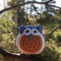 Crochet Owl Softie | Soft Toy | Gift Idea | Hand Crocheted | Wool Bamboo | Blue