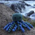 Green Crochet Jellyfish Softie | Toy | Wool Bamboo | Gift Idea | Hand Crocheted