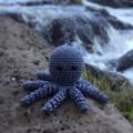Crochet Octopus Softie | Toy | Wool Bamboo | Gift Idea | Hand Crocheted | Grey