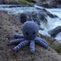 Crochet Octopus Softie   Toy   Wool Bamboo   Gift Idea   Hand Crocheted   Grey