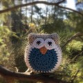 Crochet Owl Softie | Soft Toy | Gift Idea | Hand Crocheted | Wool Bamboo | Teal