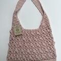 100% Cotton Crochet Over the Shoulder Hobo Style Bag