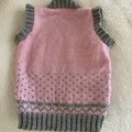 Baby vest hand knitted