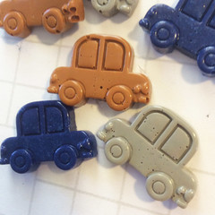 Car decodan, car cabochon, boy themed embellishments, boy scrapbook supplies, be