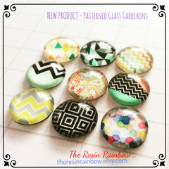 glass cabochon, glass flatback, glass dots, earring supplies, clear glass caboch