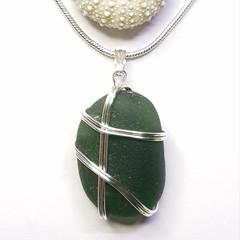 Seaglass  - Winter Green Wirewrap