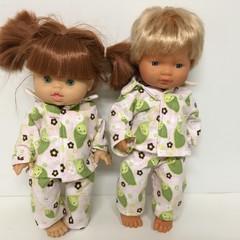Miniland and Minikane Dolls Pajamas to fit 38cm Dolls