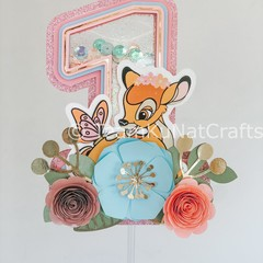 Bambi-Inspired One Year Old Caketopper/ Woodland-Themed One Year Old