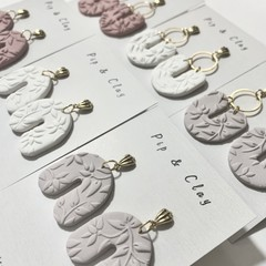 Textured clay earrings