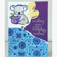Koala birthday wishes card