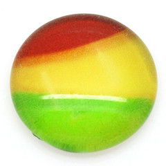 Rainbow colour dots, flatback glass dots, diy jewelery supplies, scrapbook suppl