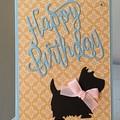 Birthday Handmade Card  - scotty  dog