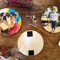 Photo Magnets -  Wood Photo Magnet, Fridge Magnet, Custom Photo Gift, Picture on