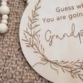 Pregnancy  Announcement Plaque - Grandparents