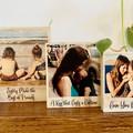 Polaroid Photo Block with Custom Message, Personalised Photo Gift on Wood