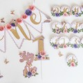 Butterfly-Theme 3d Caketopper