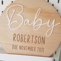 Pregnancy  Announcement Plaque - Personalised