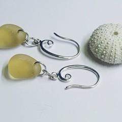 Seaglass  Earrings  - Petite Yellow