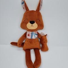 Kangaroo with Joey softie