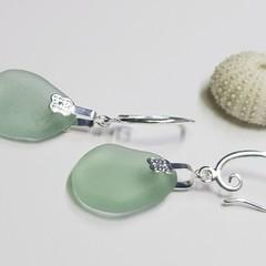 Seaglass  Earrings  - Wintergreen