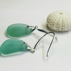 Seaglass  Earrings  - Sweet Teal